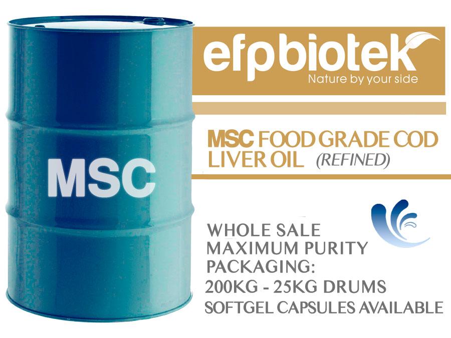 MSC FOOD GRADE COD LIVER OIL