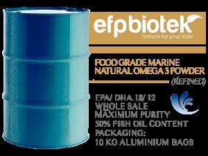 food grade marine natural omega 3 powder